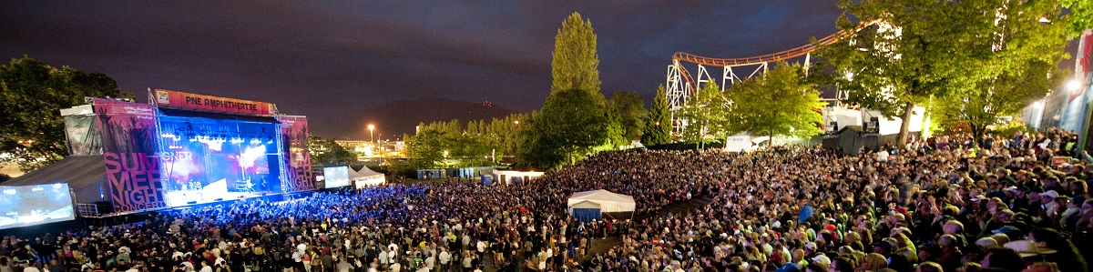 Summer Nights Concerts at the PNE Amphitheatre. Vancouver, BC