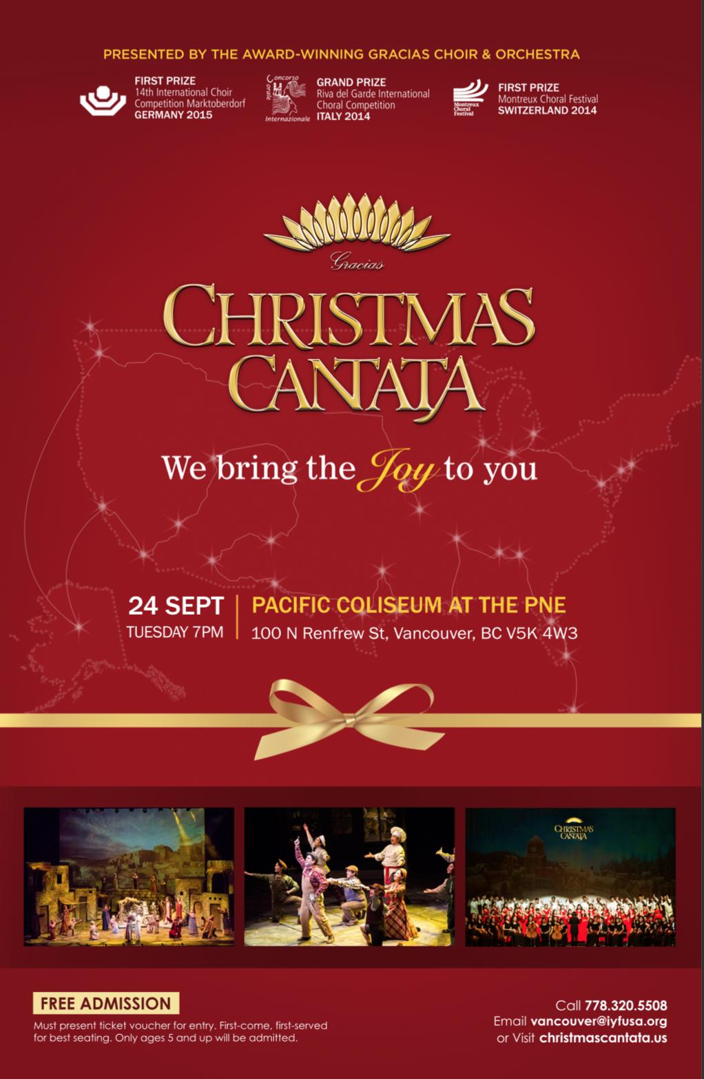 Christmas Cantata.2019 Gracias Christmas Cantata Pne